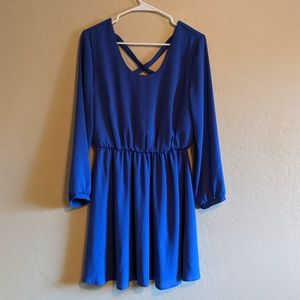 Lush Royal Blue Dress